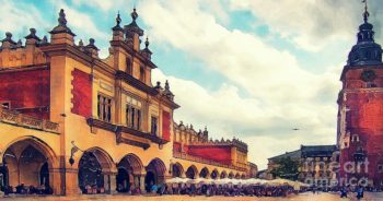 Cracow Main Square Old Town by Justyna JBJart